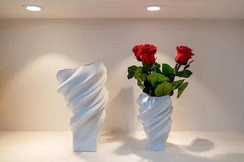 Rosenthal Vase Squall mit Infinity Rosen