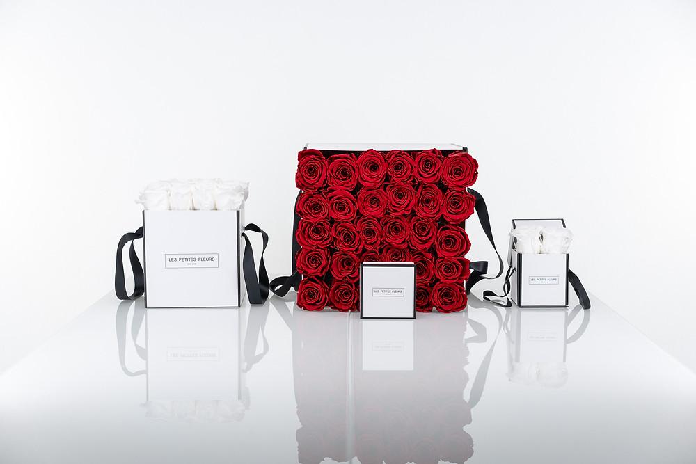 Rosen Geschenkboxen