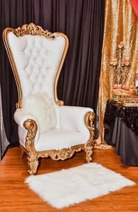 Gold/White Crown Chair $150.00