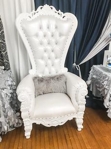 White Crown Chair $150.00