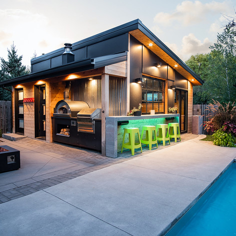 North Fargo Modern Pool House