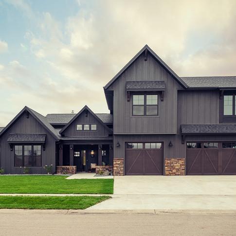Black Scandinavian Farmhouse