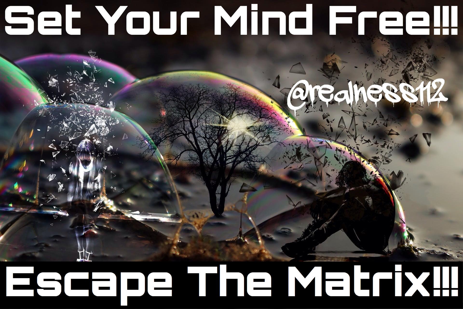@realness112 Escape the Matrix!!