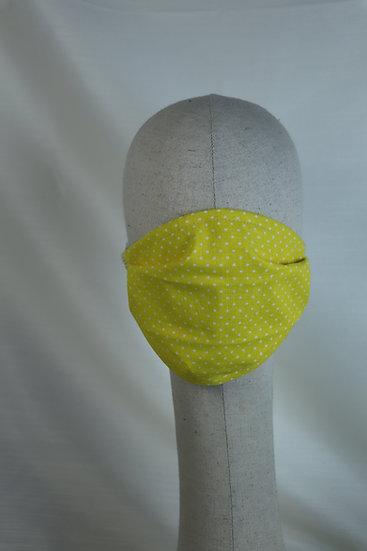 Masque 65 jaune à pois