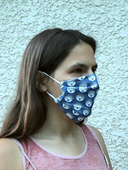 Masque 56 hérisson bleu