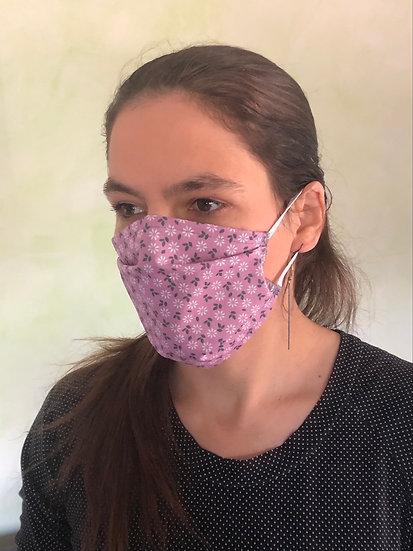 Masque fleur mauve