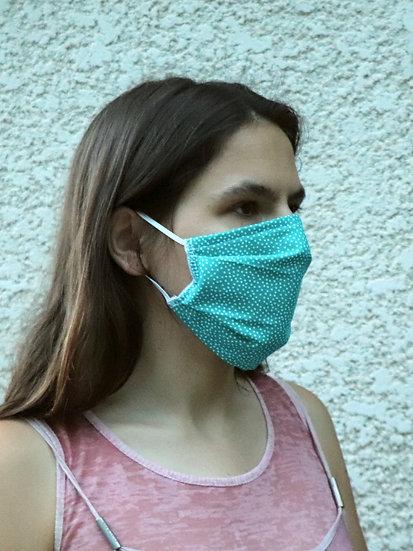 Masque 55 pois turquoise