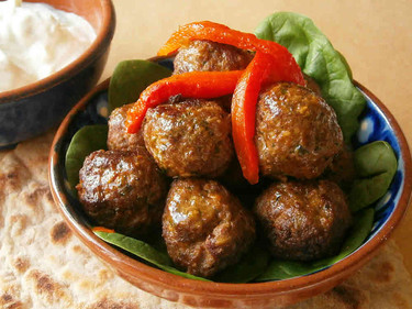 Merguez inspired lamb meatballs