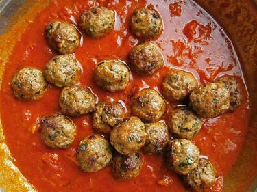 Lamb & spinach meatballs