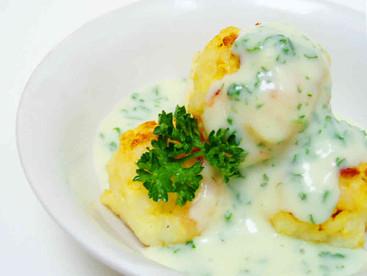 Cod & potato balls with parsley sauce