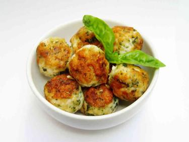 Chicken, basil & Parmesan meatballs