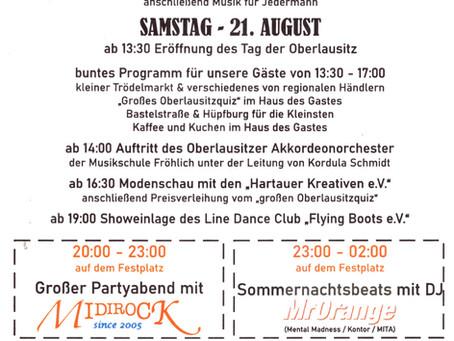 Vom 20. bis 22. August Großes Festwochenende im Denkmalort Obercunnersdorf zum Tag der Oberlausitz.