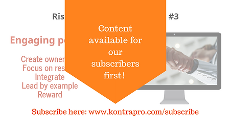 Subscribe to our newsletter about risk management!