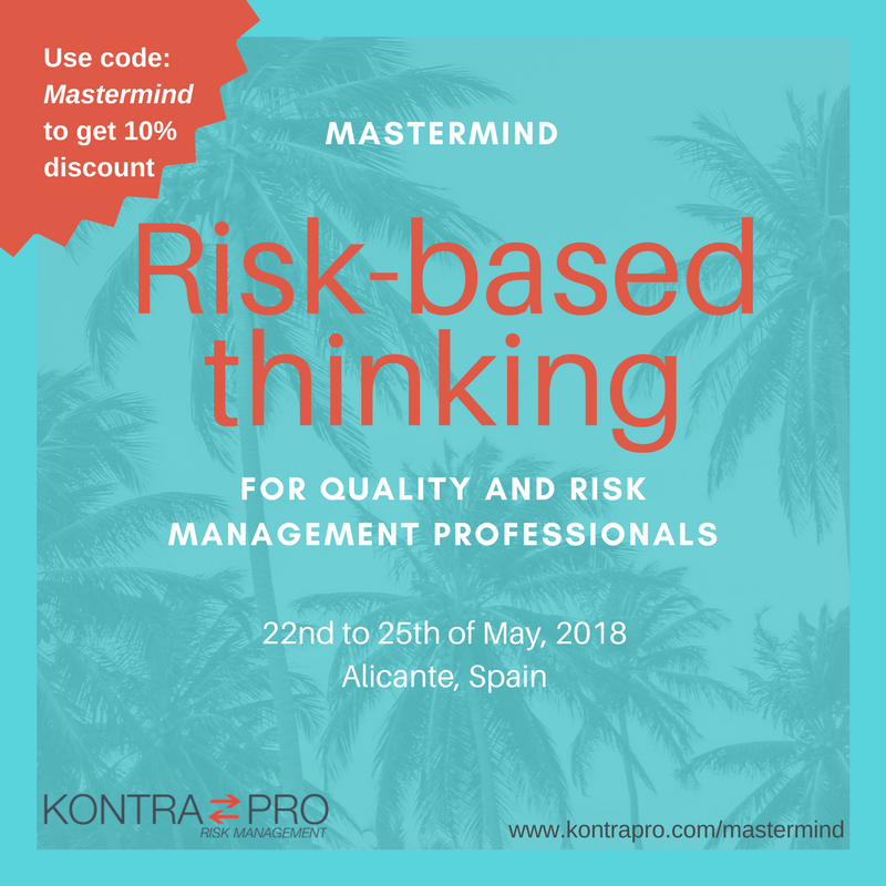Risk-based thinking mastermind in Alicante