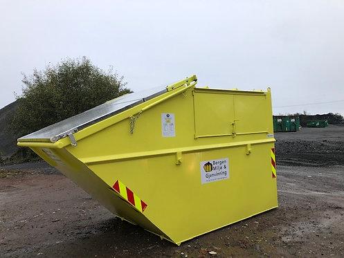 10 kubikk lukket nebb-container til gips 1500 kg inkl. Fastpris kr 4450,-