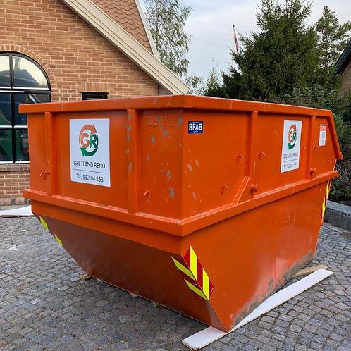 10 kub. åpen container til hageavfall. Fastpris kr 4230,-