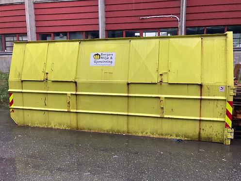 18 kubikk lukket luke-container til gips 3000 kg inkl. Fastpris kr 6700,-