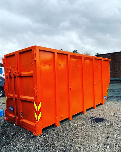 20 kub. åpen lift-container til hageavfall. Fastpris kr 6560,-