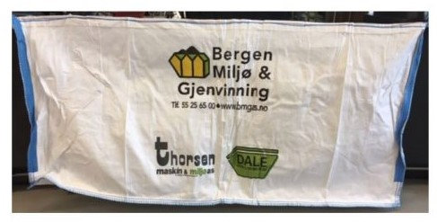 Nye 2020 liter Big-Bag søppelsekker til avfall. kr 185 pr. sekk.