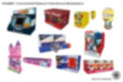 Hasbro conceptual 3D computer renderings of retail countertops displays