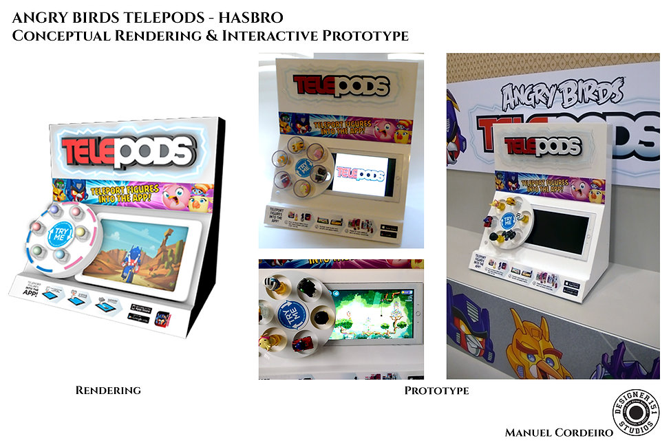 Hasbro computer renderings of retail prototype interactive displays