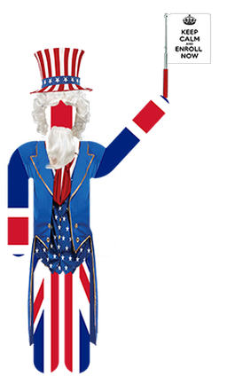 Mr English disguised as Uncle Sam
