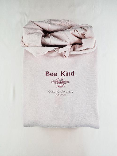 Bee Kind DetailedTonal Bee Embroidered Crew/Hoodie
