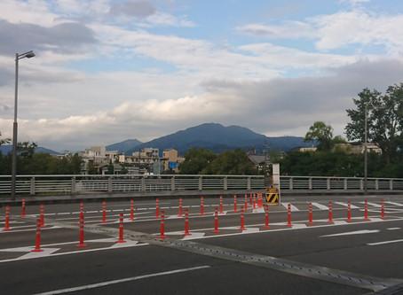 比叡山と鴨川