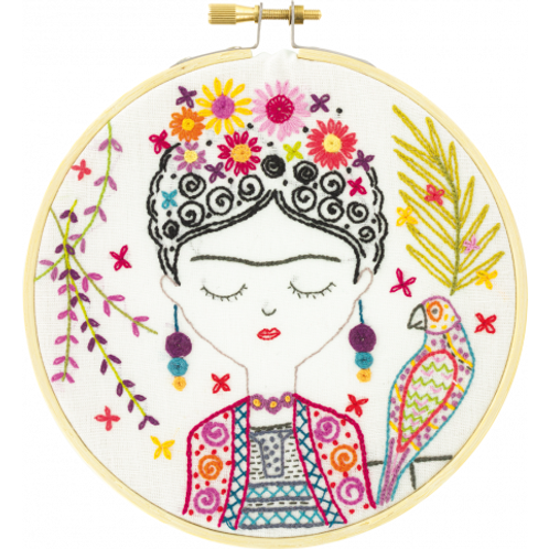 Kit de broderie, jolie Frida