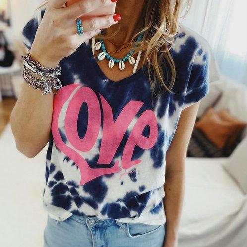 """T-Shirt en coton bio """"Love - tye & dye"""""""