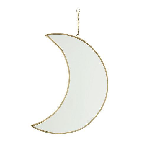 Miroir lune à suspendre, hauteur 30cm