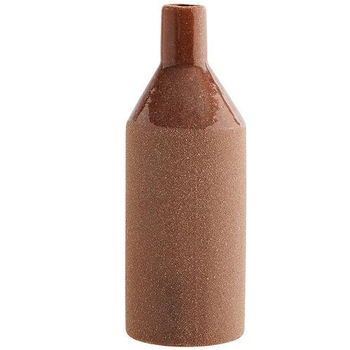 Vase en grès, couleur Brique