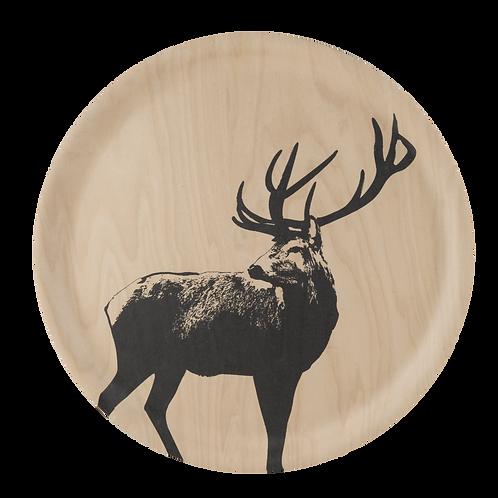 Plateau en bois - Le Cerf