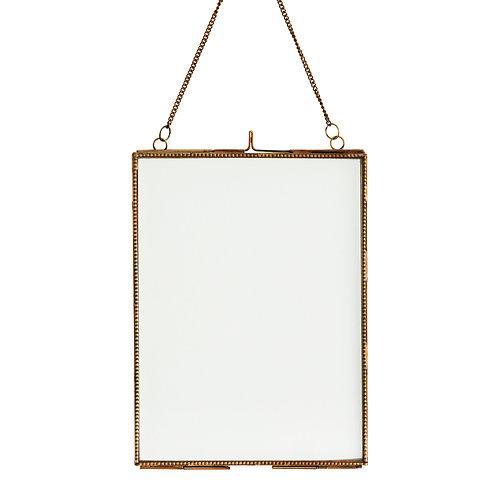 Cadre photo à suspendre, laiton doré 15x20 cm