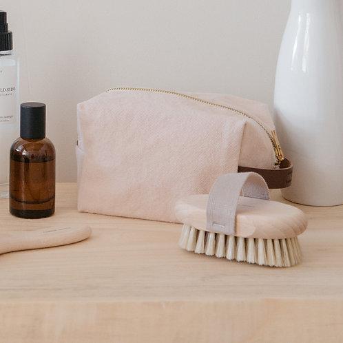 Brosse de massage pour brossage à sec en hêtre