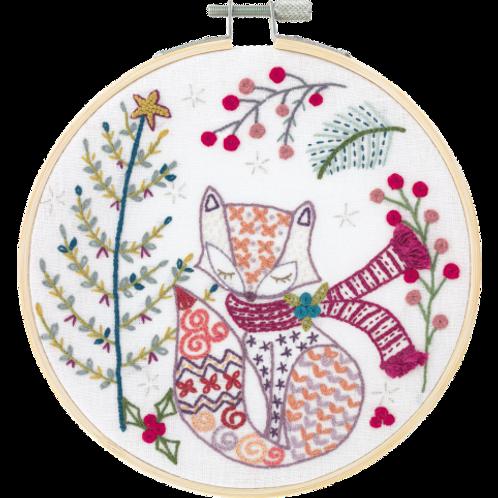 Kit de broderie, Madame Renard attend Noël