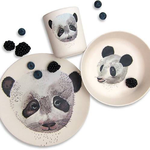 Set repas en bambou - Panda