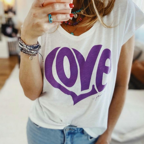 "T-Shirt en coton bio ""Love"""