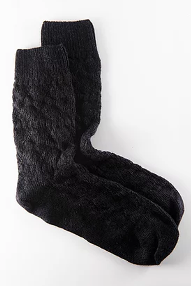 Chaussettes Maïté en noir