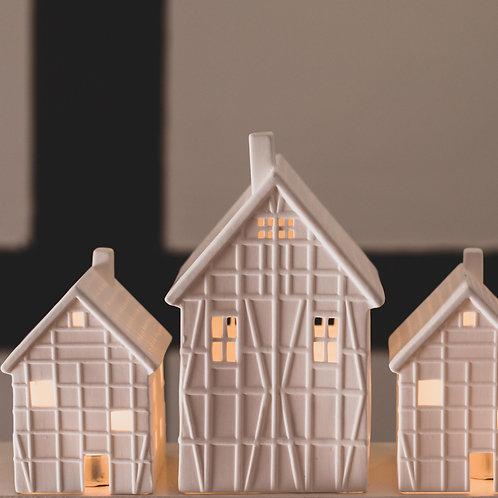 """Photophore Maison """"chalet"""", petit format"""