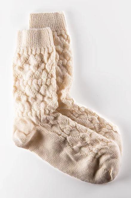 Chausettes Maïté en blanc