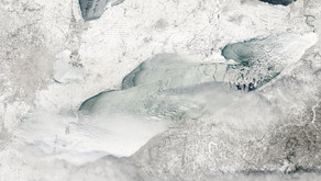 Great Lakes Ice Cover Surging