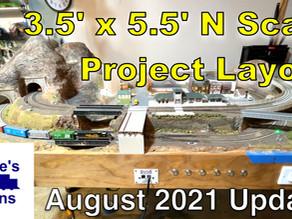 3x5 N Scale Layout Update