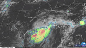 Satellite Loop of Hurricane Barry