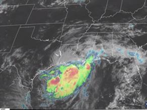 Satellite Loop of Hurricane Barry
