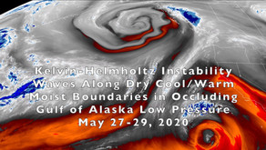 Instability Waves Around a Gulf of Alaska Low  Pressure System