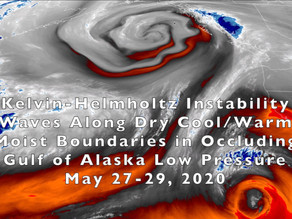 Instability Waves Around a Gulf of Alaska Low  Pressure System