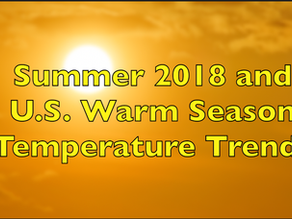 Summer Temperature Trends in the US