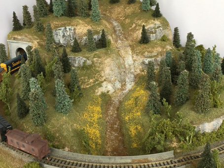 "A 24"" Diameter N Scale Micro Layout"