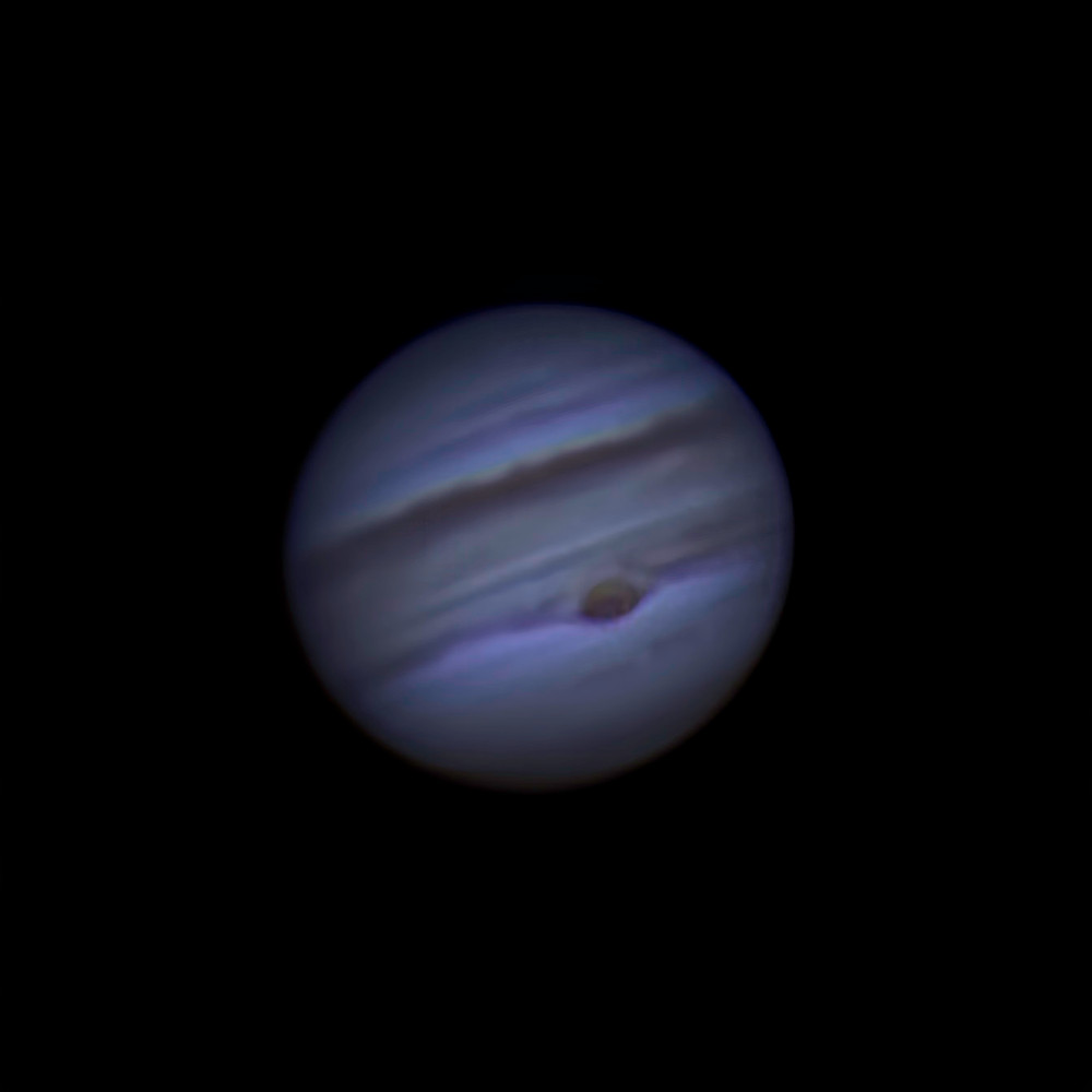 Jupiter with Great Red Spot on evening of July 19, 2019.